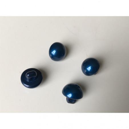 Bouton nacré 8 mm bleu