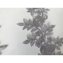 Applique gris dentelle