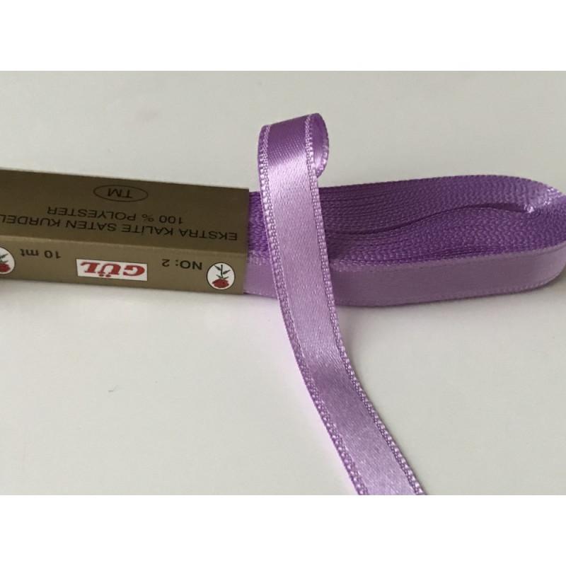 Ruban satin 10 mm  violet