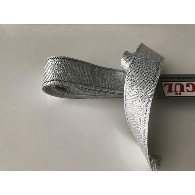 Ruban satin  gris 2 cm en largeur