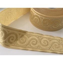 Galon medievale 3,5 cm beige