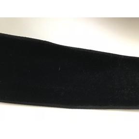Ruban velour noir 4 cm