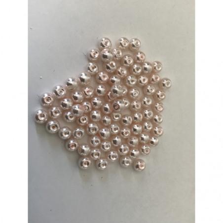 Perle nacrées 4 mm rose poudre