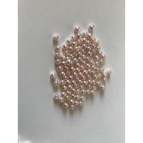 Perle nacrées 5 mm rose poudre
