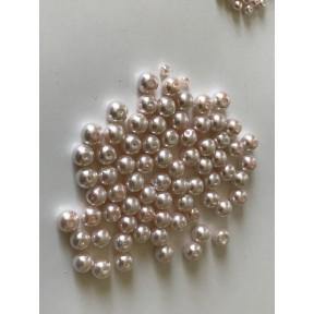 Perle nacrées 6 mm rose poudre