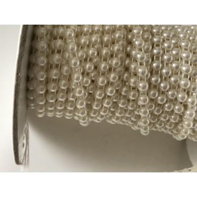 Ruban de demi perle 4 mm beige