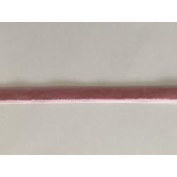 Ruban velour vieux rose de 1 cm