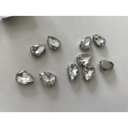 Strass en cristal amande 10*14 mm