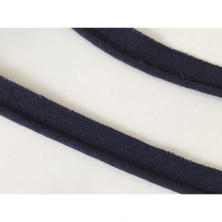 Passepoil  en coton bleu marine