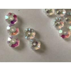 Perle en cristal fleur 6 mm