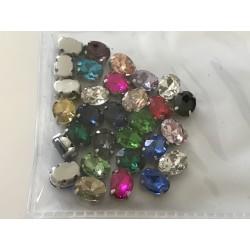 Strass en cristal ovale 6*8 mm