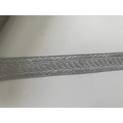Galon couleur argent 2,5 cm