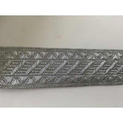 Galon couleur argent 3,5 cm