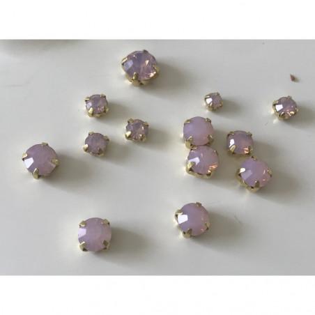 Strass sertie a coudre en cristal taille mixte
