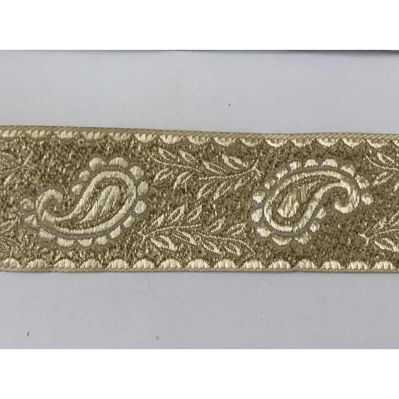 Galon médiéval doré 3,5 cm largeur