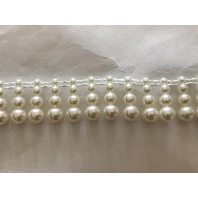 Frange perle acrilique de 2,5 cm