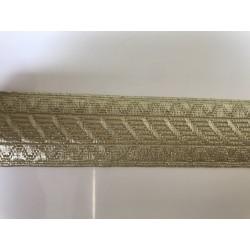 Galon couleur doré  3,5 cm
