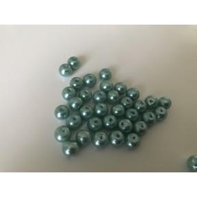 Perle nacrées 4 mm et 6 mm vert d eau