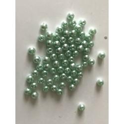 Perle en verre nacré vert pomme