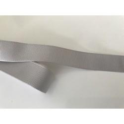Ruban gros grain gris de 2 cm