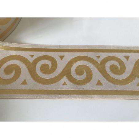 Galon medieval beige dore 7  cm