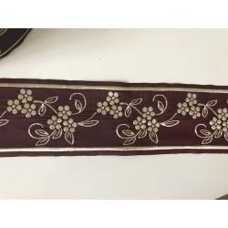 Galon medieval bordeaux et doré 5 cm