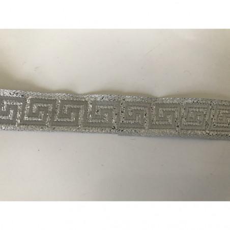 Galon médiéval argenté 17 mm