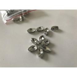 Strass sertie en cristal 5*10 mm