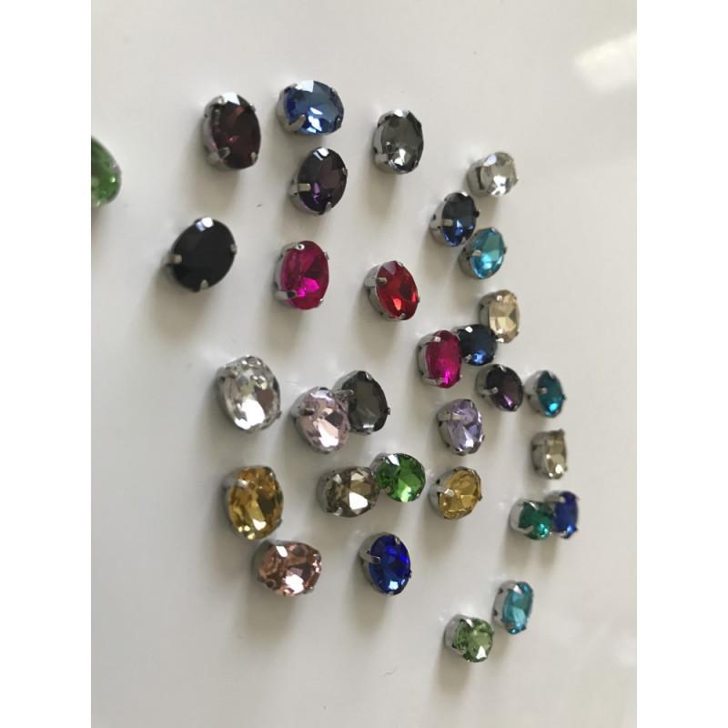 Strass en cristal Rectangle 8*10 mm