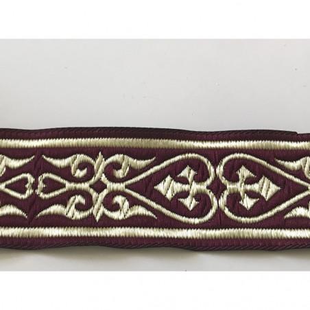 Galon medieval bordeaux 3,5 cm