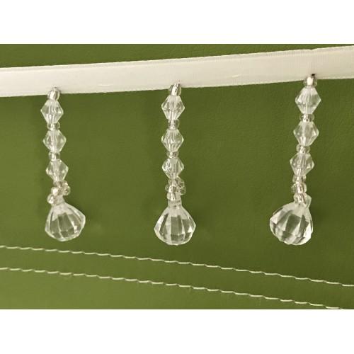 Frange en perle transparent