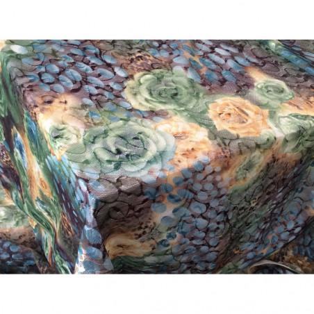 Tissus en dentelle légèrement elasthane vert
