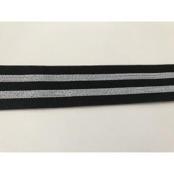 Ruban elastique noir et blanc