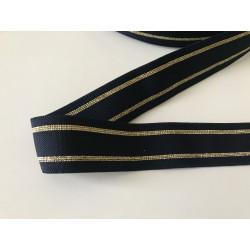 Ruban elastique bleu et doré