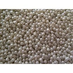 Perle nacrées 4 mm blanc
