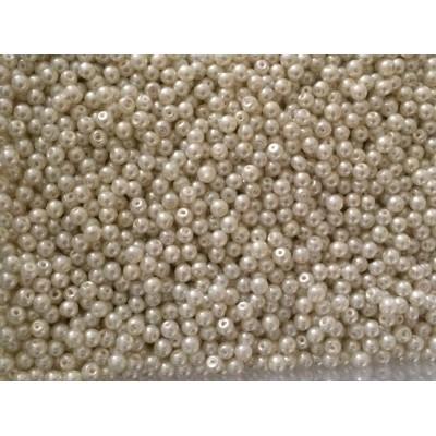 Perle nacrées 4 mm beige