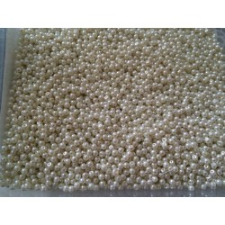 Perle nacrées 3 mm beige