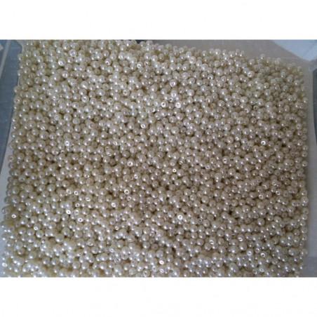 Perle nacrées 3 mm blanc