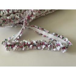 Ruban elastique froufrou rose