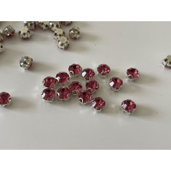 Strass serti rose de 6 mm